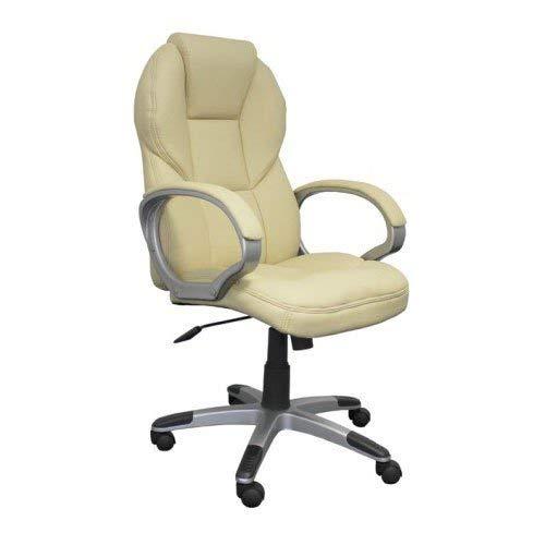 AMSTYLE Bürostuhl MATERA Bezug Kunstleder Beige Schreibtischstuhl Design X-XL 120 kg Chefsessel Wippfunktion ergonomisch Polster Drehstuhl hohe Rücken-Lehne höhenverstellbar mit Armlehnen Hochlehner