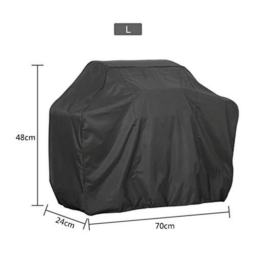 dededepeng Housse de protection pour barbecue d'extérieur étanche à la poussière Noir 190 T 56 x 71 cm 11