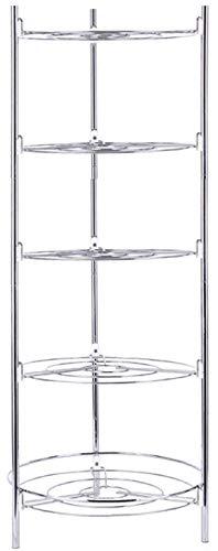 Hillier Stainless Steel Pan & Pot Organiser Rack Multi-Layer Rack (5 Tier)