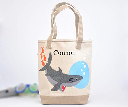 Shark Tote| Personalized Library bag| toddler tote | Boys Preschool tote