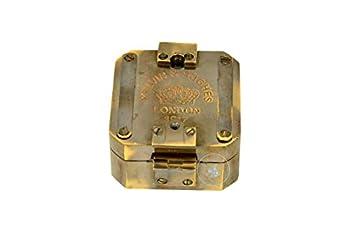 aasiya nautical Kelvin & Hughes Natural Sine Brunton 1917 Compass Brass Mining Compasses Brass Pocket Compass Outdoor Navigation Tools an
