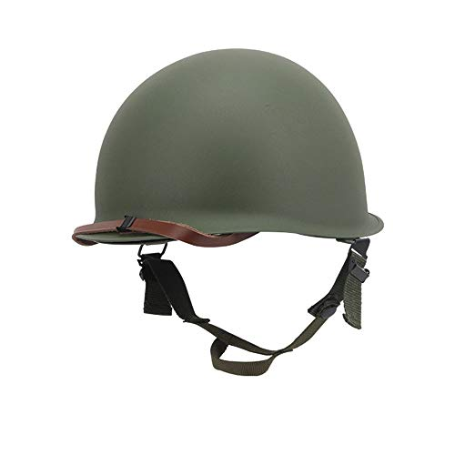 ZPP WWII US Army M1 Helmet Steel Field Green Replica with Liner Repro (Green)