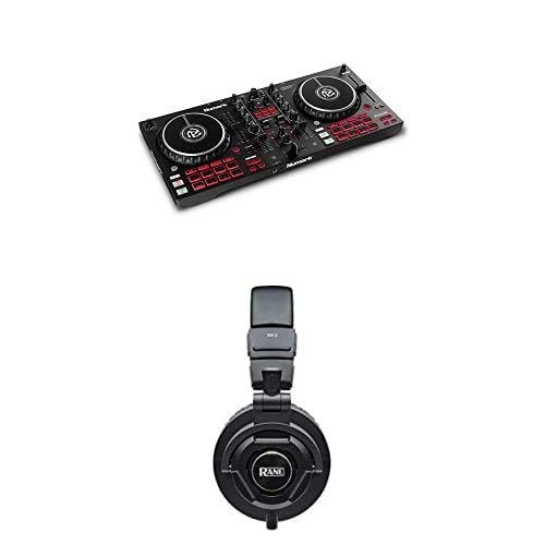 Numark Mixtrack Pro FX + Rane RH-2 Kopfhörer – 2 Deck DJ-Controller für Serato DJ mit DJ-Mixer + 50mm Full-Response, High-Fidelity Over-Ear Kopfhörer mit vollständig zusammenklappbarem Design