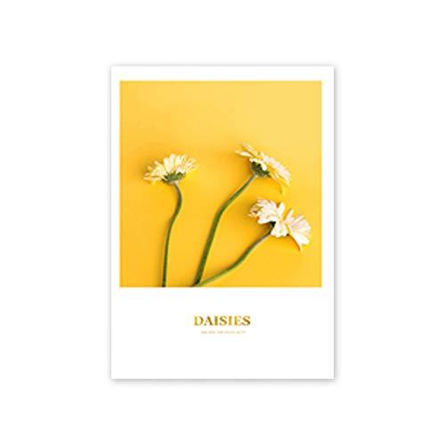 LiMengQi2 Cartel de Globo Amarillo Paisaje rústico Pintura Decorativa Pinturas en la Pared Cuadros para Sala de Estar decoración del hogar (sin Marco)