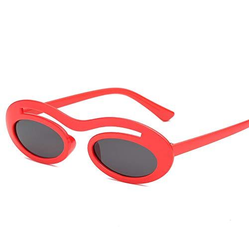 FJCY Gafas de Sol ovaladas pequeñas y Redondas Mujeres Hombres Lentes de Color Transparente Hombres y Mujeres Gafas de Sol ovaladas Unisex Mujeres Mujeres Uv400-Kd97013-C2