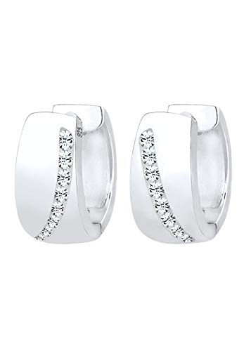 Elli Ohrringe Creolen Swarovski® Kristalle Funkelnd 925 Silber