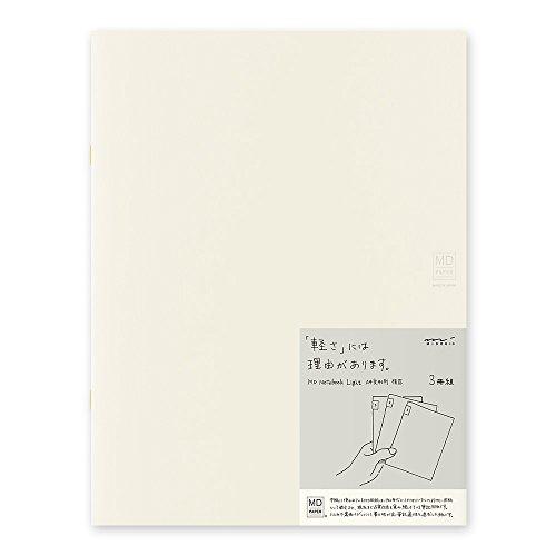 ミドリ ノート MDノート ライト A4変形判 横罫 3冊 15216006