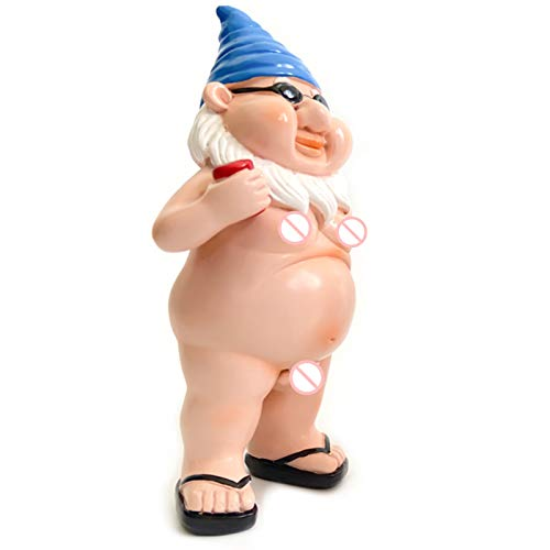 Neihan Garden gnome statue,Garden decorations dwarf resin crafts cartoon dwarf statue decoration(Multi-4)