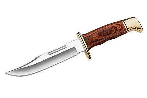 Buck Erwachsene Special, 420 HC-Stahl, Cocobolo-Holzgriff, Messingbeschläge, Lederscheide Jagd-/outdoormesser, Mehrfarbig, One Size