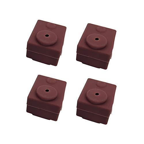 3D Parti e Accessori Silicone Sock Cover per Stampante 3D Coperchio in Silicone Compatibile con E3D V6-4pcs Marrone