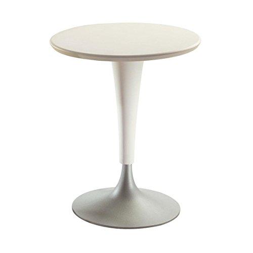 Kartell 45361N Tisch Dr.Na Durchmesser 60/45 x 73 cm SMC lackiert Polypropylen Fließpressaluminium, wachsweiß