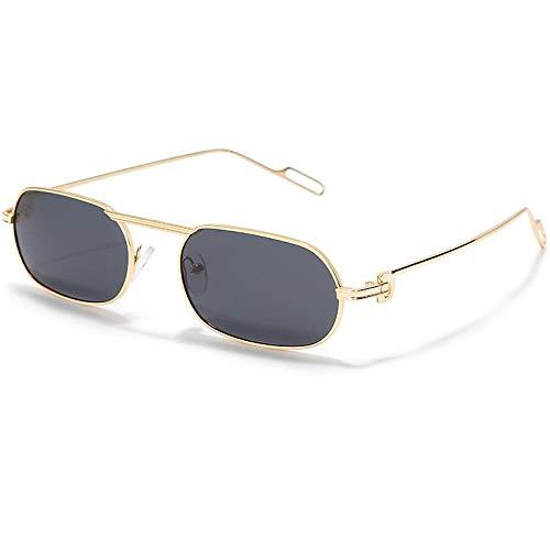 Sonnenbrille Herren Vintage Polarisierte Sonnenbrille Männer Frauen Retro Rechteck Spiegel Classic Square Sonnenbrille Sommerbrille Uv400 4