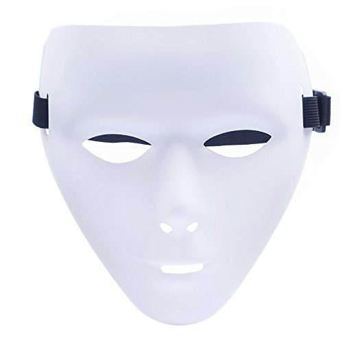 Emilio G Hip Hop Dance Erwachsenenkostüm Masken männlich weiblich gruselig weiße blanke Gesichtsmasken für Halloween DIY Performances Requisiten