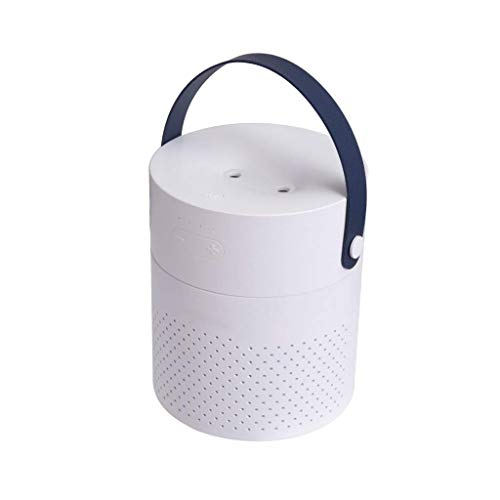Humidifiers for Home Ultrasonic Essential Oil Diffuser with Color Lights 1100mL Large Capacity - with A Full-Grain Belt, It Can Be Easily Carried At Any Time(White, Pink, Green, Gray) (Color