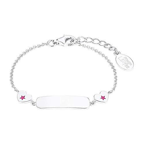 Prinzessin Lillifee 2027224 - Pulsera para niña con corazón de plata 925, 14 cm, color rosa