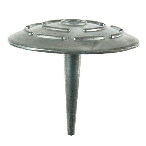 Schake Alu-Markierungsnagel | Ohne Reflexlinsen | Zum Einschlagen | Mit spitzem Schaft | Durchmesser 10,0 cm | Aluminium | 1 VE = 10 Stück