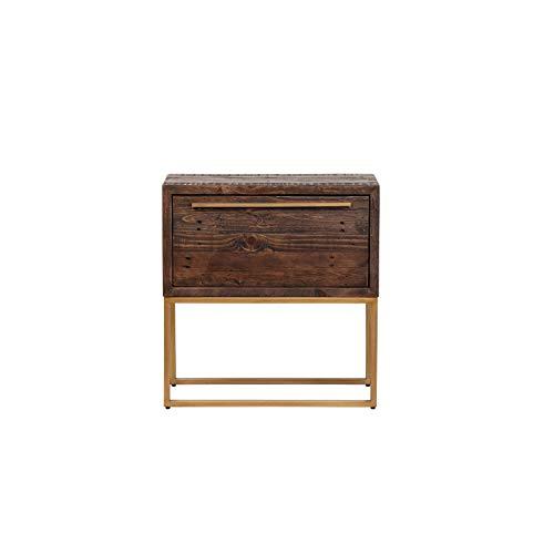 Sale!! Lion One Drawer Nightstand Brown Mid-Century Modern Pine Antique Handmade