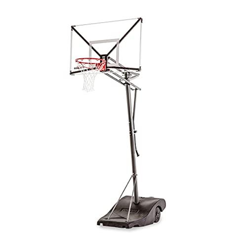 HAMMER Goaliath GoTek 54, Portable Basketballanlage, 2,3 m auf 3,05 m Verstellbarer Basketballständer, NBA-Standard-Höhe, extra großes Zielbrett mit 137 x 84 cm, flexbiles Pro-Style Korbing