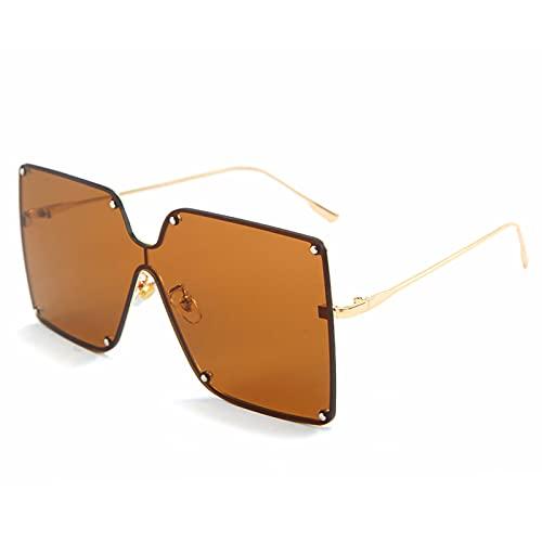 xzl Gafas de Sol de plástico de plástico de Estilo de Gran tamaño para Mujer, Tonos clásicos Retro Vintage, protección UV 400, protección UV Glasse, E