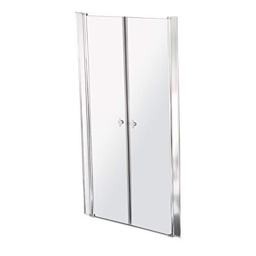 Home Deluxe - Duschabtrennung - Duschtür - Lavea Klarglas - 6 mm nanobeschichtetes ESG - Verschiedene Designs und Größen (100 x 195 cm)