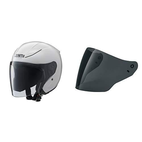 【Amazon.co.jp限定】 ヤマハ(YAMAHA) バイクヘルメット ジェット YJ-20 シールドセット ZENITH パールホワイト XXLサイズ + ダークスモークシールド(アンチフォグ)