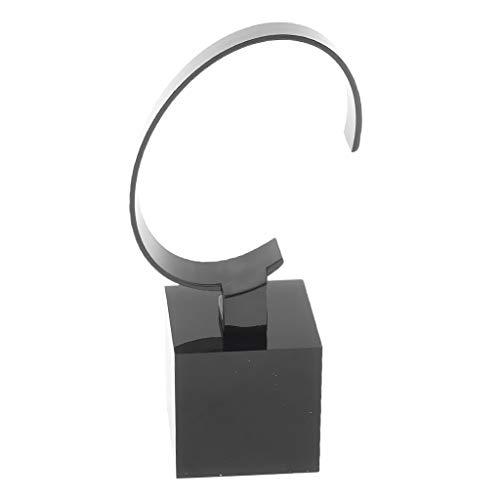Homyl Acryl Uhrenständer Uhrenbox Ausstellungsstand Schmuck Armbanduhren Display Ständer Aufbewahrung Kasten - 4 cm Schwarz
