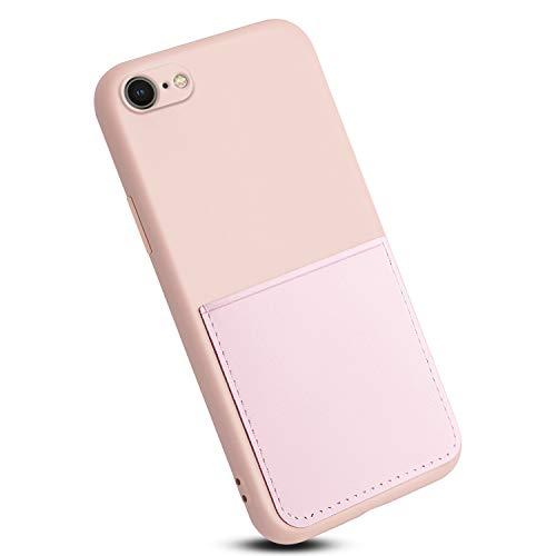 Rdyi6ba8 Funda Compatible con iPhone SE 2020, TPU Silicona Carcasa con Superfino Pelusa Forro, Anti-rasguños Protección Teléfono Case para iPhone 7/8, Rosado