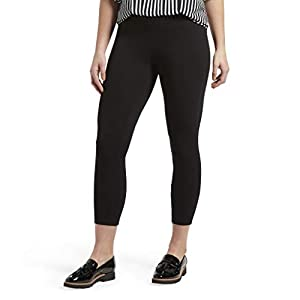 HUE Women's Wide Waistband Blackout Cotton Capri Leggings, Assorted