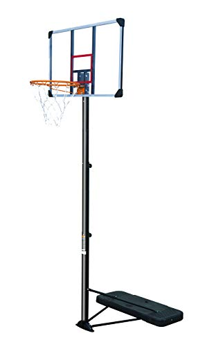 Rakon Portable Basketball Hoop & Goal Basketball System Basketball Equipment Height Adjustable 6.5ft-10ft with 44 Inch Backboard and Wheels for Indoor Outdoor Use