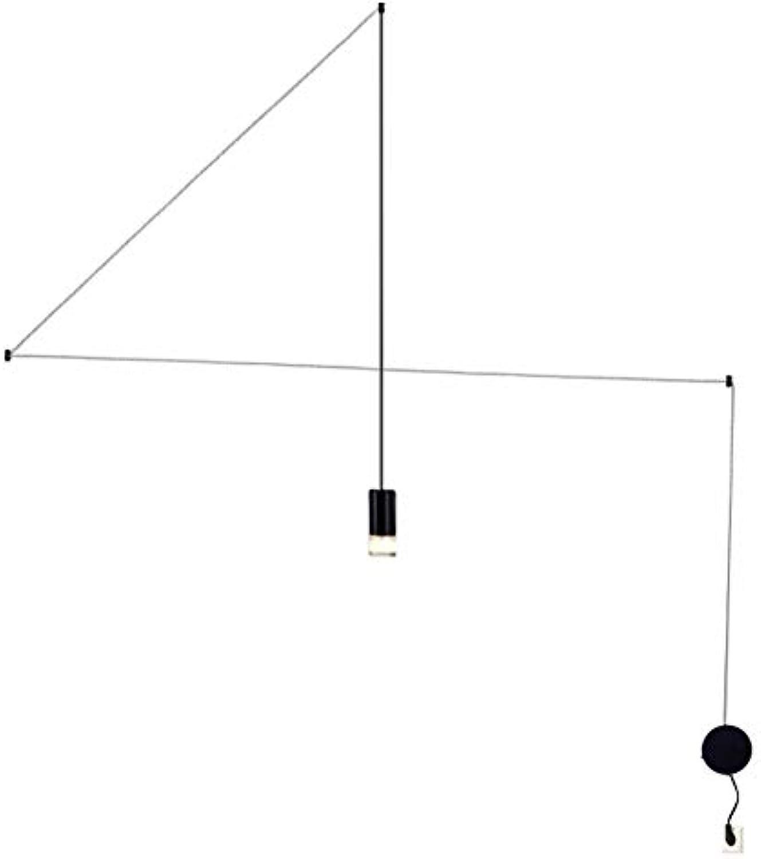 Moderne Schmiedeeisen LED Kronleuchter 4 Mt Einzigen Kopf Balkon Wandleuchte Für Esszimmer Schlafzimmer Study Home Decoration Linie Licht (Schwarz)