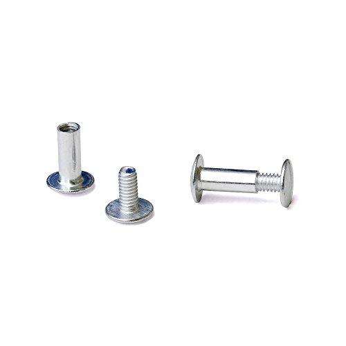 1/2 in. Aluminum Chicago Screws/Screw Posts (Qty 100 sets)