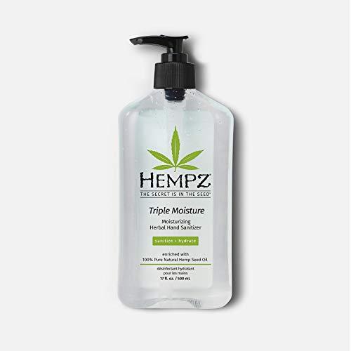 Hempz Triple Moisture Herbal Hand Sanitizer 17oz Limited...