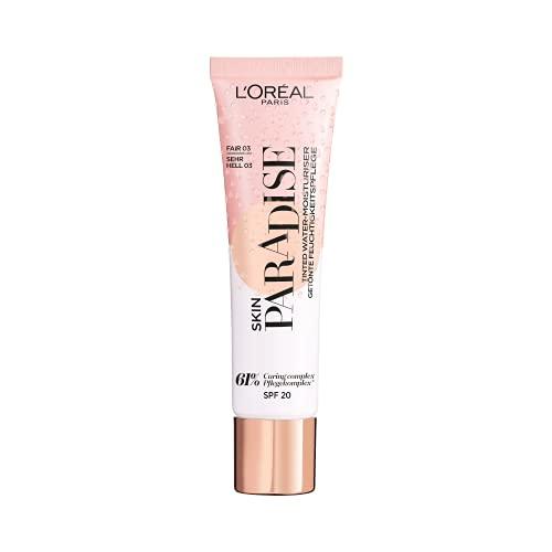 L'Oréal Paris Getönte Tagespflege mit leichter Deckkraft, Feuchtigkeitsspendende BB Cream, Skin Paradise, Nr. 03 Fair, 1 x 30 ml