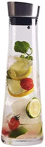Jarra de vidro Kettle Water Jarra de vidro com tampa gelada e alça Jarra de vidro resistente ao calor Borossilicato para chá/água quente e fria/gelo Vinho café leite e suco garrafa de bebida com bico xícara de chá