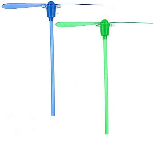 xinfe Libellula Volante Juguetes 25 Piezas Juguete Volante Libellula Libellula de Bambú LED Luminosa Flying Juguetes Interesantes Juguetes de Interacción (Color aleatorio)