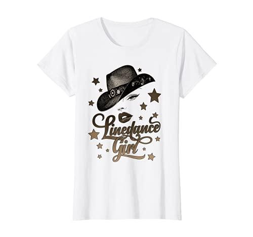 Damen Cowboyhut Line Dance Queen Silhouette für Tänzerinnen T-Shirt