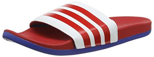 adidas Adilette Comfort, Sandalia Hombre, FTWR White Scarlet Team Royal Blue, 43 1/3 EU