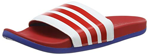 adidas Adilette Comfort, Scarpe da Ginnastica Uomo, Ftwr White/Scarlet/Team Royal Blue, 42 EU