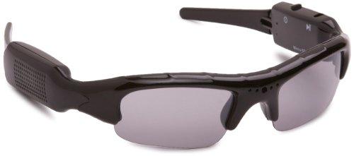 JAY-tech DL-1217 Sonnenbrille mit Camcorder (2.0 Megapixel, Mikrofon, microSD, USB 2.0) schwarz