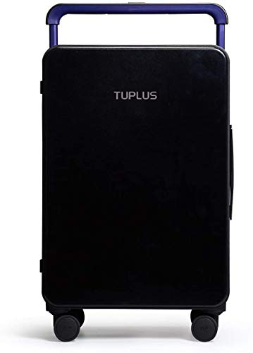 TUPLUS Rolling Suitcase Trolley Travel Suitcase Hard Case ABS 4 Wheels 360 Degrees 64 L 71 cm High