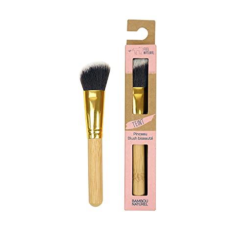 Feel Natural Pinceau maquillage - BLUSH BISEAUTE - teint - bambou naturel - Fibres ultra douces - écologique et responsable