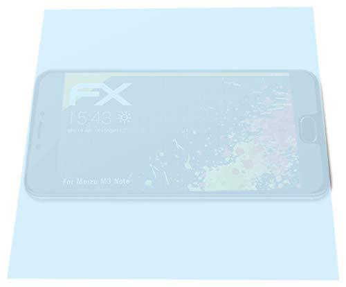 atFolix Panzerfolie kompatibel mit Meizu M3 Note Schutzfolie, entspiegelnde & stoßdämpfende FX Folie (3X)