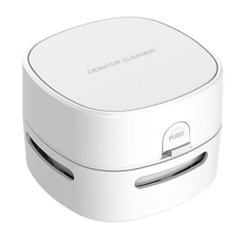 COTREE Portable White Desk Vacuum - Mini Small Cute Table Cordless Portable Handheld Cleaner for Office, School or Home...