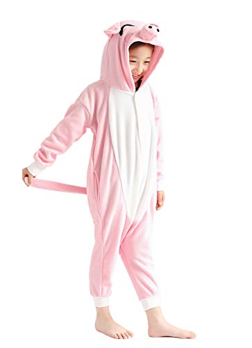 Lovely Pink Pig Costumes for Children Kids Onesie Pajamas 6-8 Years