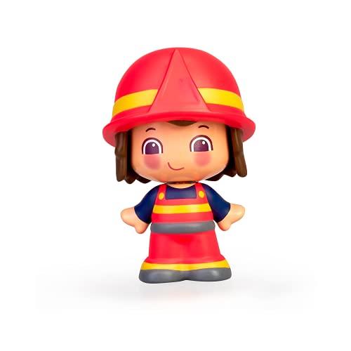 Pinypon - My First, Figura Bombero, Muñequito con traje de bombero de 2 piezas, juego delas profesiones, Regalo para bebés a partir de 12 meses para aprender colores y formas, FAMOSA (700016402)
