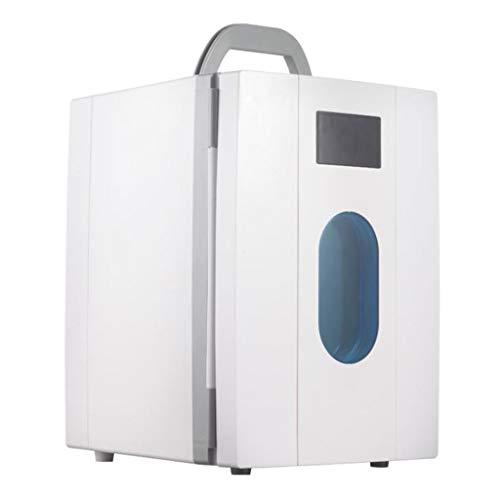 LYN Tragbarer 10-Liter-Kompressor-Kühlschrank mit Gefrierfach, 12 V / 220 V für Auto und Haushalt (Farbe : Weiß)