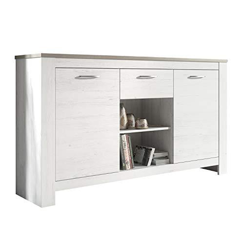 Buffet, Mueble Comedor, Aparador Salón, Oficina, Modelo Frida, Medidas: 159 cm (Ancho) x 90 cm (Alto) x 40 cm (Fondo)