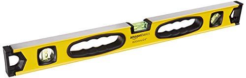 Amazon Basics - Nivel de burbuja magnético de aleación de aluminio de 60,9 cm