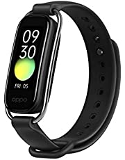 """OPPO Smart Band Style (Black)- Continuous SPO2 Monitoring, 1.1"""" AMOLED Display and 12 Workout Modes, Sports and Style Straps Included (Currently only Supports Android)"""
