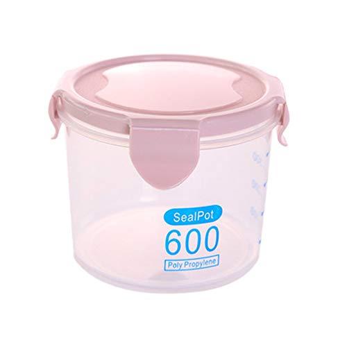 HHuin Latas Selladas de plástico Transparente multifuncionales Tanque de Almacenamiento Cocina Contenedores de Alimentos Secos Frasco de Almacenamiento de Granos de Alimentos para el hogar
